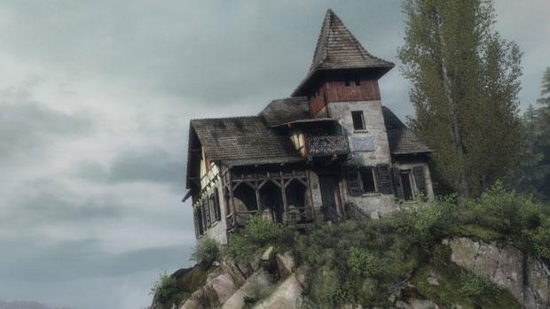 Gebäude auf einem Hügel